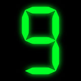 Green led digit 9 Royalty Free Stock Image