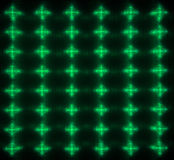 Green LED matrix Stock Photography