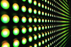 Green LEDs. Green stretch of LEDs in the testing facility royalty free stock images