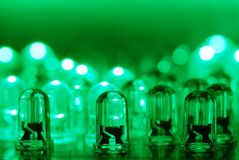 Green LEDs Stock Image