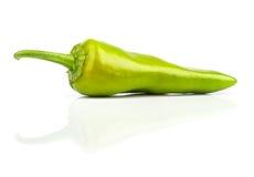Green leguminous cayenne pepper Stock Photo
