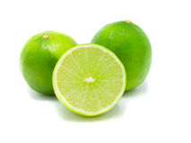 Green Lemon. On white background Stock Photography