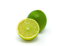 Green Lemon. On white background Royalty Free Stock Images
