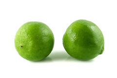 Green lemon. On white background Royalty Free Stock Photo