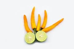 Green lemon&chili Stock Photography