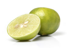 Green Lemon Closeup Royalty Free Stock Images