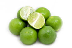 Green Lemon in group Royalty Free Stock Photos