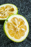 Green lemon halves Stock Photography