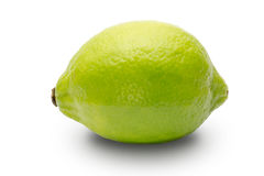 Green lemon. Pictured green lemon in a white background Stock Photography