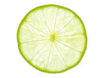 Green lemon slice backlit Stock Image