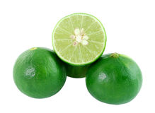 Green lemon on white background Stock Photography