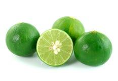 Green lemon on white background Stock Photo