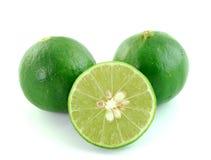 Green lemon on white background Stock Images