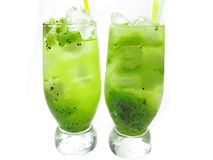 Green lemonade cocktails Royalty Free Stock Images