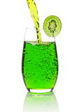 Green lemonade with kiwi Stock Photos