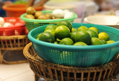 Green Lemons Stock Image