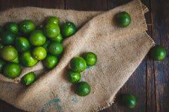 Green lemons Stock Photo