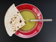 Green lentil soup Royalty Free Stock Photo
