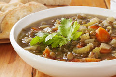 Green Lentil Soup Royalty Free Stock Images
