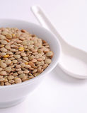 Green lentils Stock Images