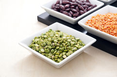Green lentils Royalty Free Stock Images
