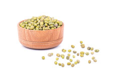 Green lentils in a bowl Stock Images