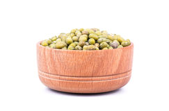 Green lentils in a bowl Royalty Free Stock Photo