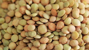 Green Lentils close up stock video