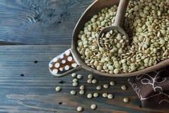 Green lentils horizontal Royalty Free Stock Photos