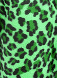 Green leopard faux fur background Royalty Free Stock Photography