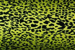 Green leopard, jaguar, lynx skin background. Used as raw material for screen and print pattern Stock Image