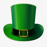 Green leprechaun hat Stock Images