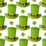 Green Leprechaun Hat Seamless Pattern Royalty Free Stock Photo