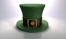 Green Leprechaun Shamrock Hat Stock Image