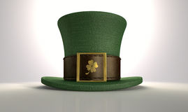 Green Leprechaun Shamrock Hat Stock Photography