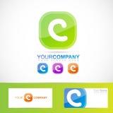 Green letter C logo Stock Image
