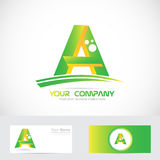 Green letter A logo icon Royalty Free Stock Image