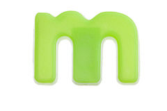 Green letter m Royalty Free Stock Photography