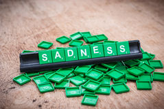 Green letter of scrabble game Stock Photo