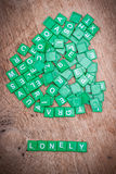 Green letter of scrabble game Stock Photography