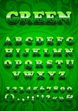 Green letters Stock Photo