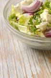 Green lettuce and cheese organic fresh salad Royalty Free Stock Photo