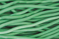 Green licorice. Strips of green licorice stock image