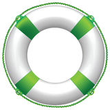 Green life buoy vector illustration