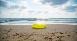Yellow life buoy Stock Photo