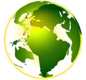 GREEN LIFE GLOBE vector illustration