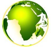 GREEN LIFE GLOBE Stock Photo