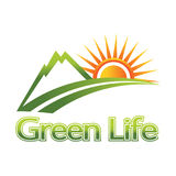 Green life logo Royalty Free Stock Photography