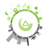 Green life vs. pollution Royalty Free Stock Photography