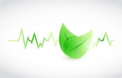 Green lifeline leaves illustration design Stock Image